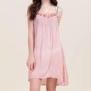 Francesca's Collection Tassel Swim Cover up Dress